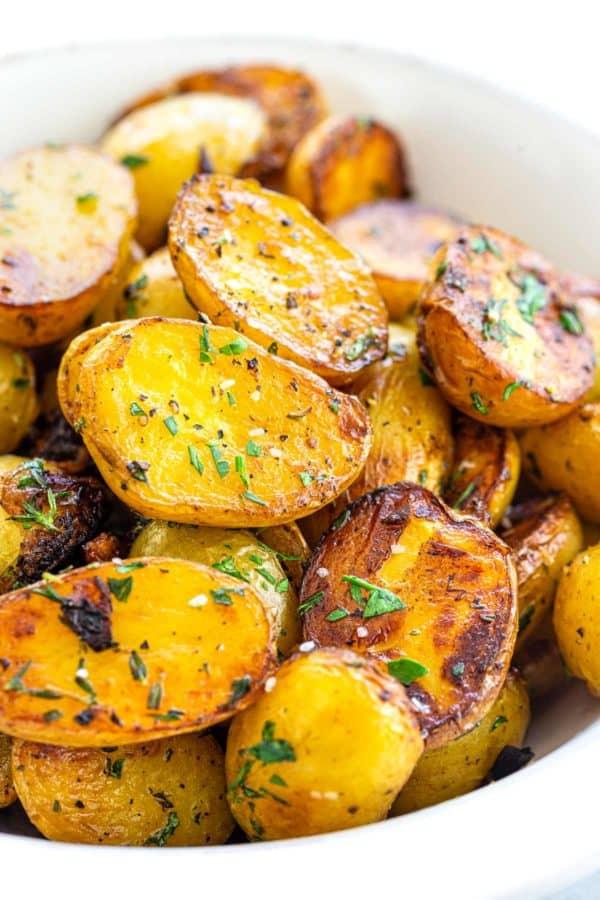 crispy potatoes in a bowl