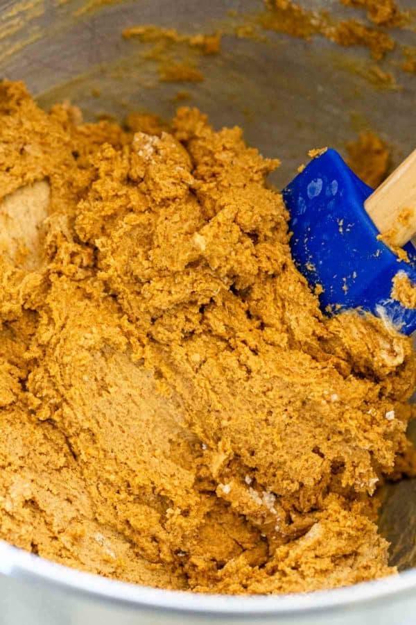 molasses cookie dough batter