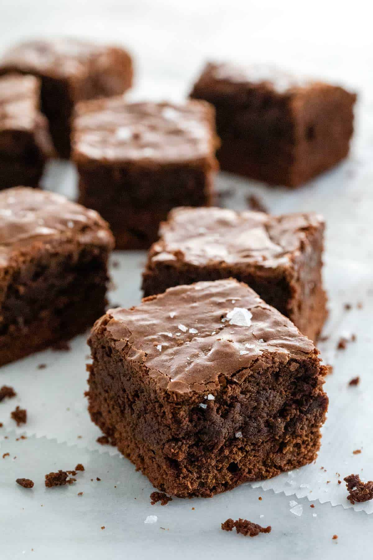 A recipe for decadent fudgy brownies that deliver intense cocoa flavor in every bite! Your friends and family will be demanding you make these again! #brownies #fudgybrownies #homemadebrownies