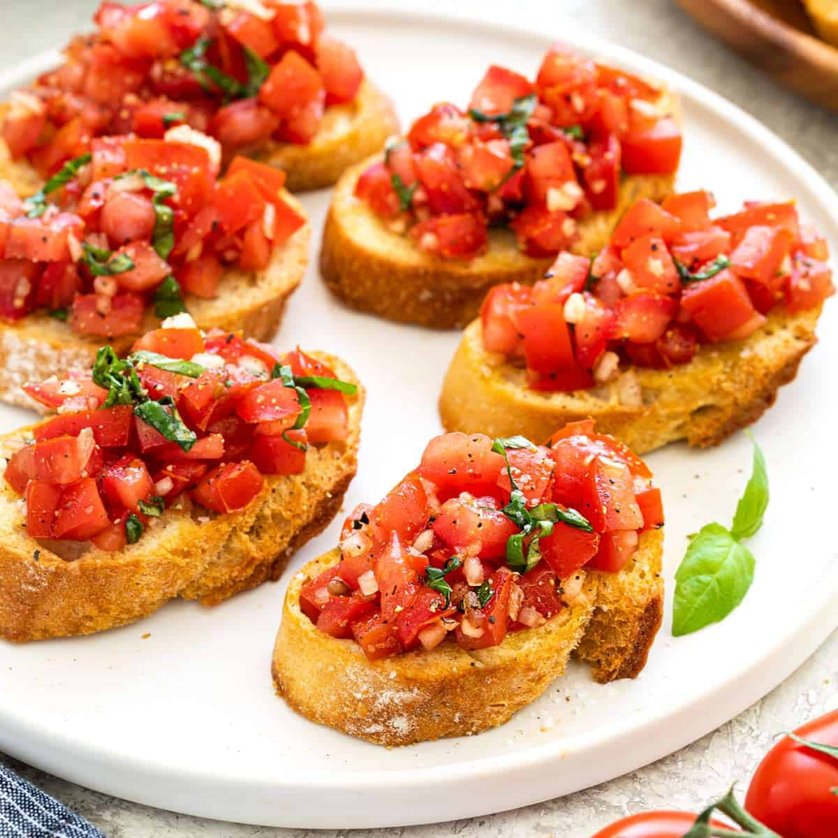 Bruschetta With Tomato And Basil Jessica Gavin