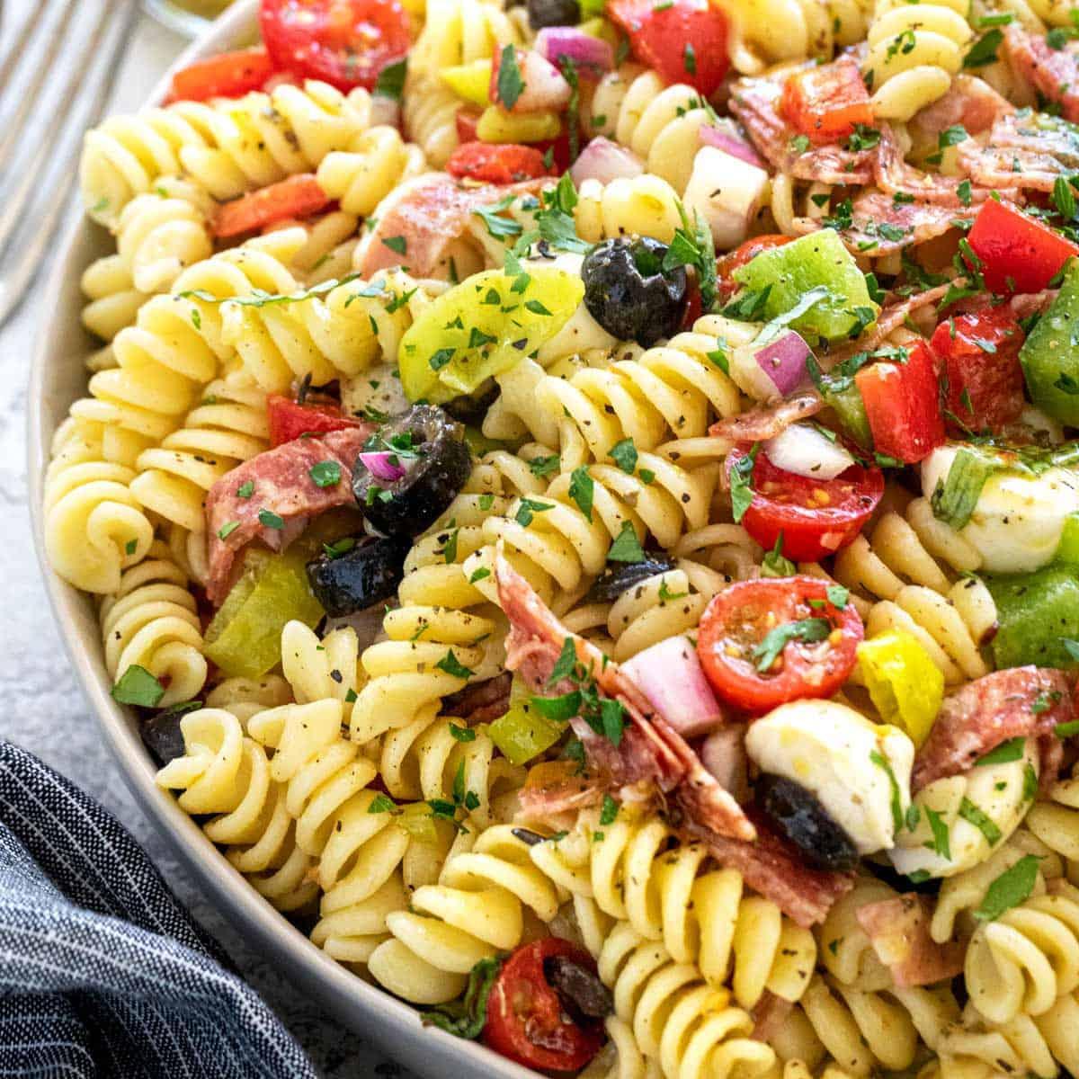 Italian Pasta Salad Recipe Jessica Gavin