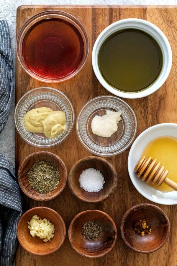 Ingredients to make your own italian dressing