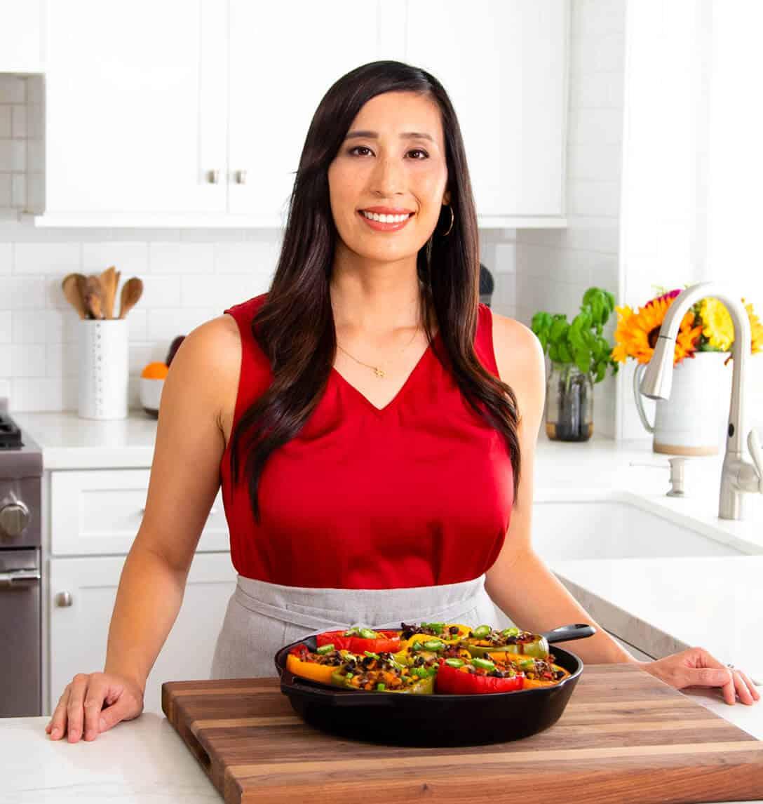 Jessica Gavin standing in the kitchen