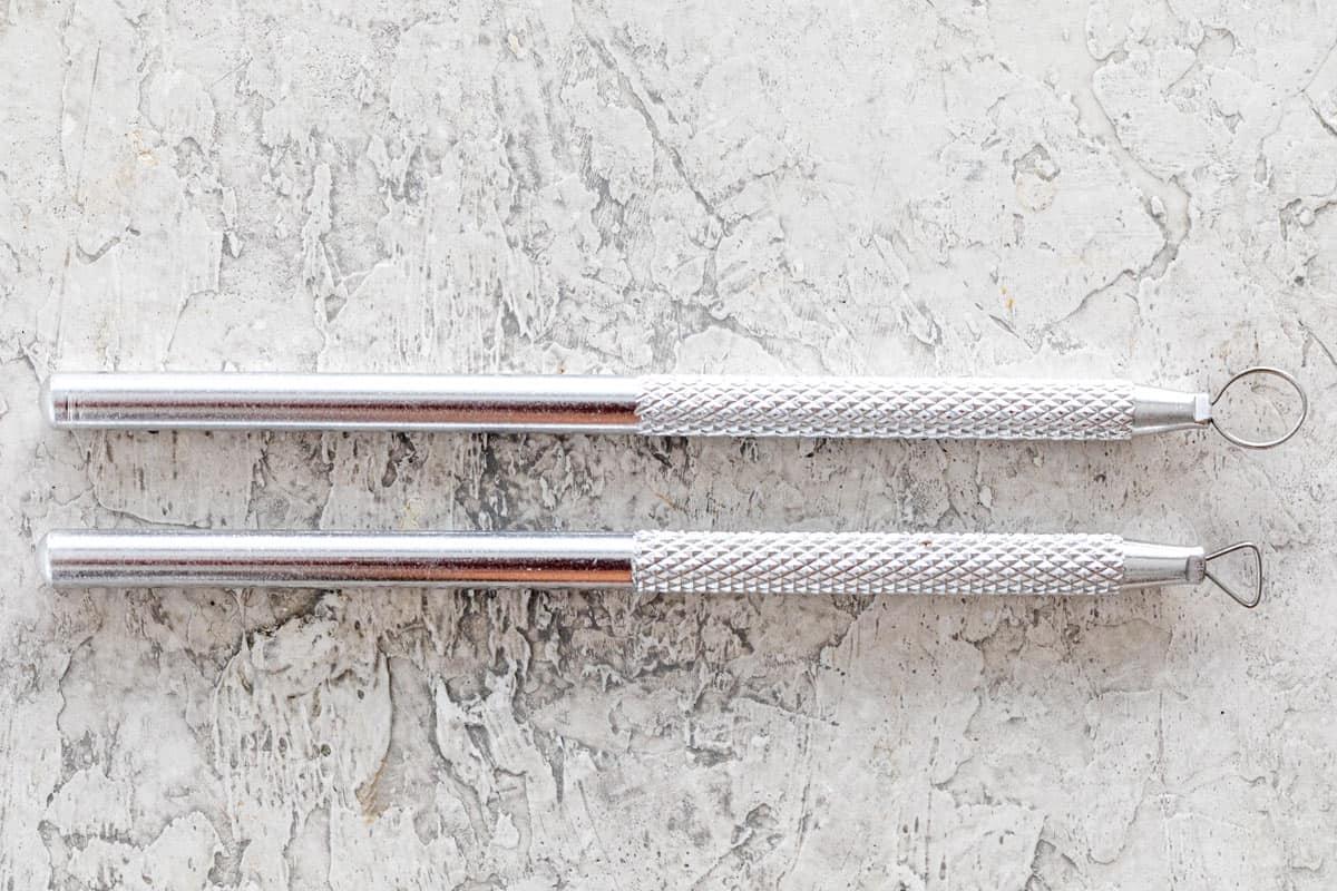 Intricate detail sculpting ribbon loop tools