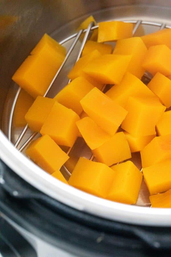 Instant Pot butternut squash cubes