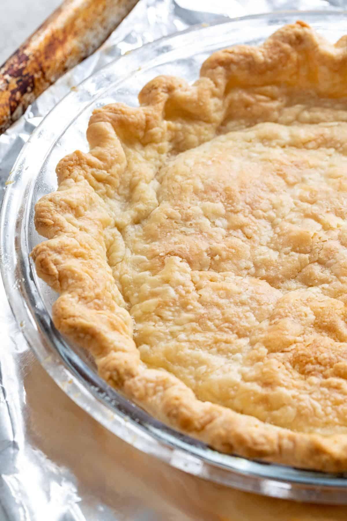 pie crust after blind baking
