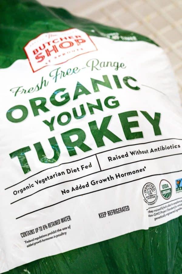 organic turkey label