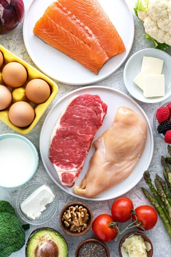 Several different keto-friendly foods allowed