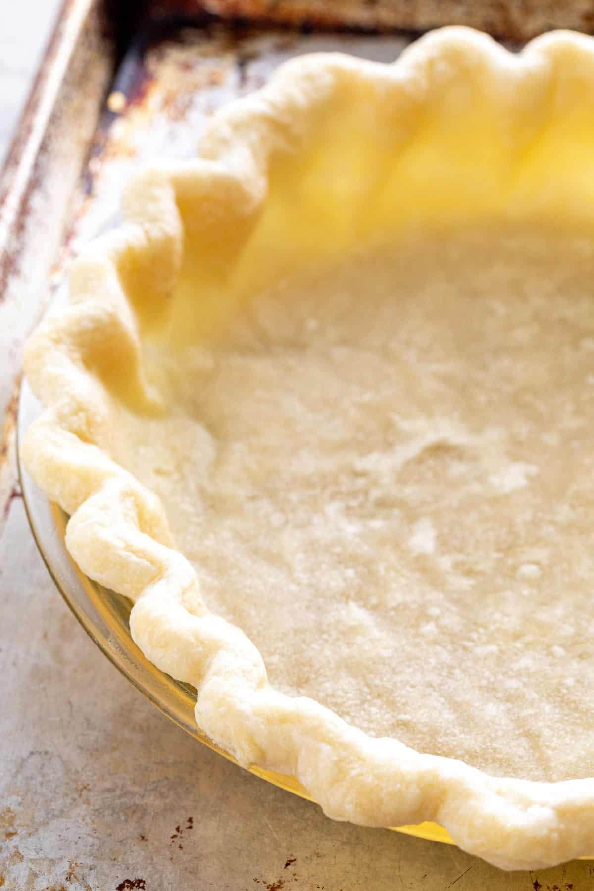 par baked pie crust shell