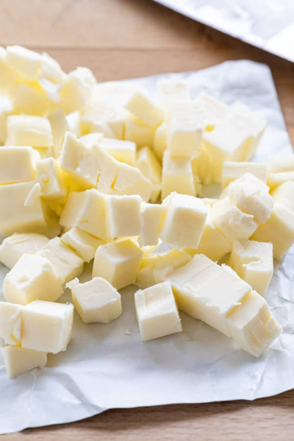 butter cut into several small cubes