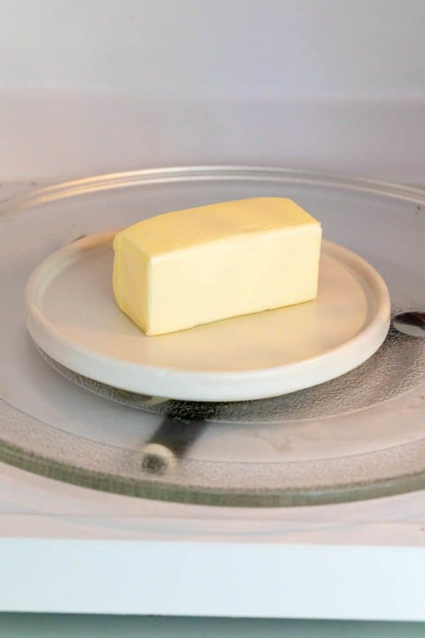 warming butter in the microwave