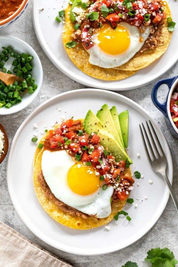 plate of huevos rancheros breakfast