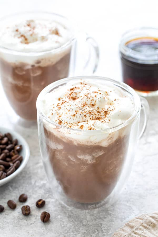 two cups of coffee smoothie