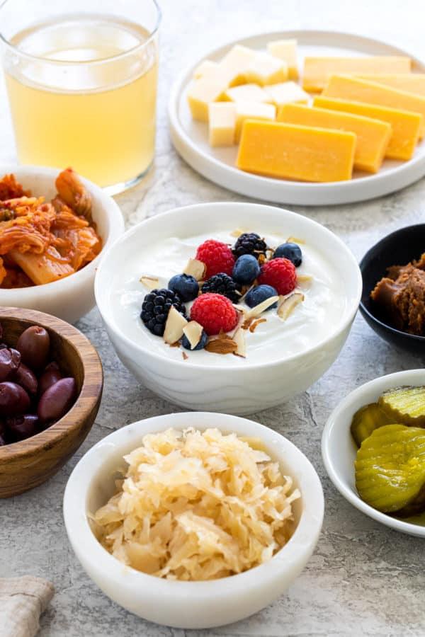 several ingredients that contain probiotics