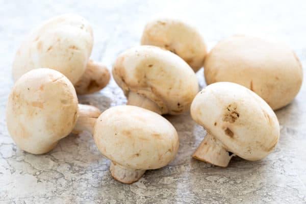 White button mushrooms