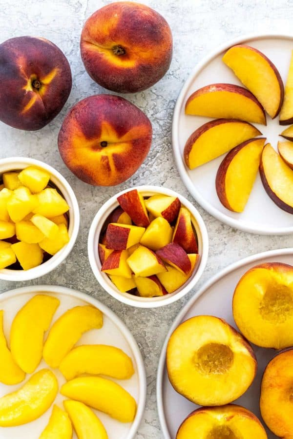 how to cut a peach into slices, cubes, and wedges