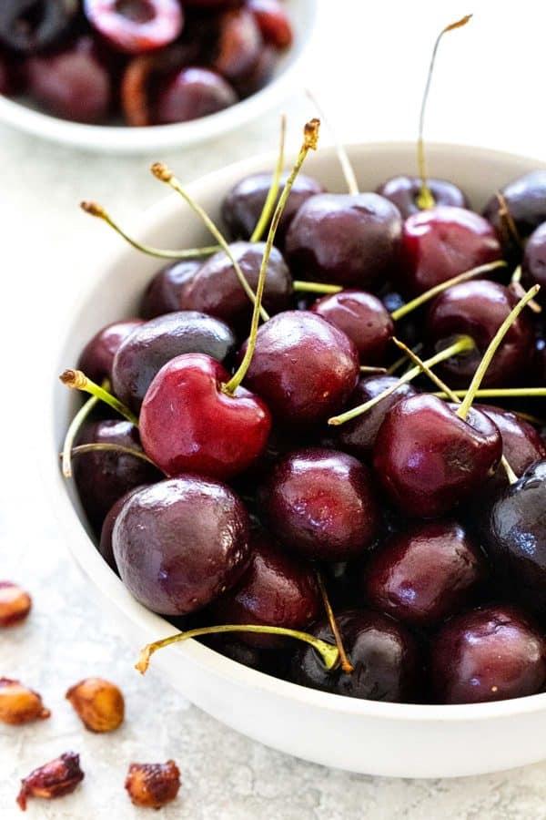 bowl of fresh cherries